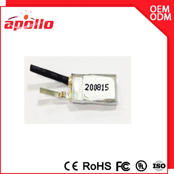 Rechargeable thiy Lithium-ion Polymer Battery Cell For Mp3/mp4/smart card 200815