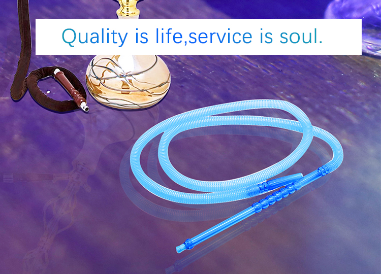 2019 hot sale plastic disposable flexible portable 4 hookah shisha pipe hose with aluminum tip