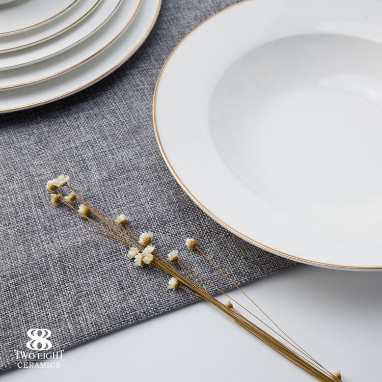 product-Hotel Restaurant Modern Luxury Dinnerware, Bone China Dinning Tableware from China, Wedding -1