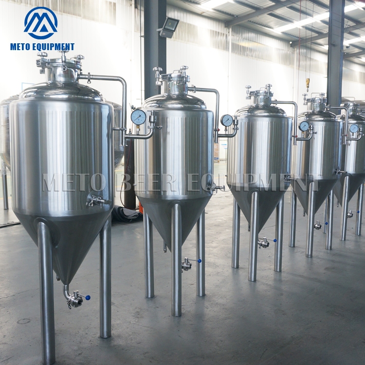 High quality professional beer fermentation equipment for craft beer fermenting unitank can be customized to red copper