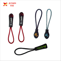 Custom Brand Logo Rubber Elastic Zipper Pull,Silicone Plastic Zipper Puller,Zipper Slider for Garments,Bags