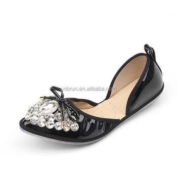 Hot Selling Wholesale Lady Roll Up Ballet Flats Foldable Ballerina ...