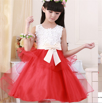Latest design girl summer kid skirt red and white flower tulle tutu latest design girl summer kid skirt red and white flower tulle tutu cocktail dress for children mightylinksfo