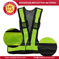 Reflective prism PVC vests for safety traveling