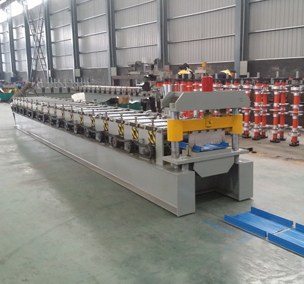 Africa Self Lock Galvanized Metal Roofing Sheet Roll Forming Machine