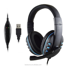 Factory hot sale noise cancelling gaming headset,fashion stereo earphone for computer,PS3