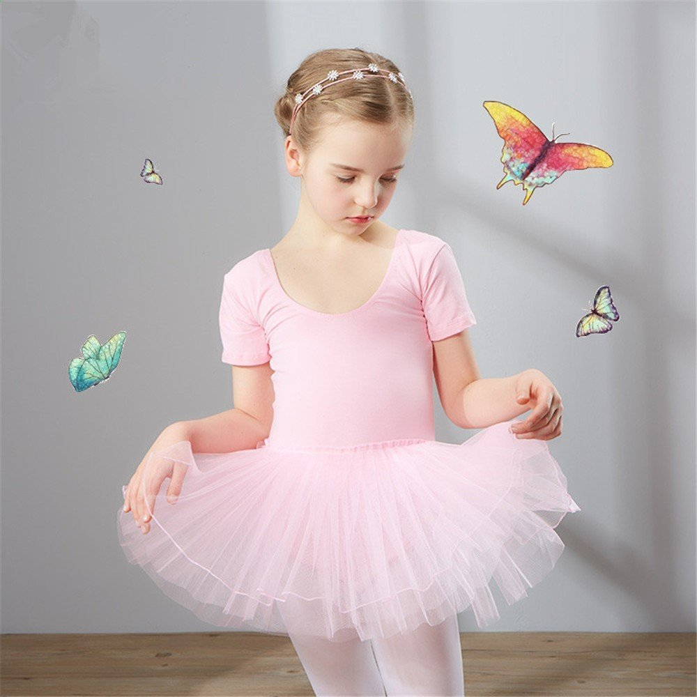 dance clothing Children Dance Costumes Children's dance costume, dancing performance, training dress for girls and ballet dresses for children,Pink,110cm