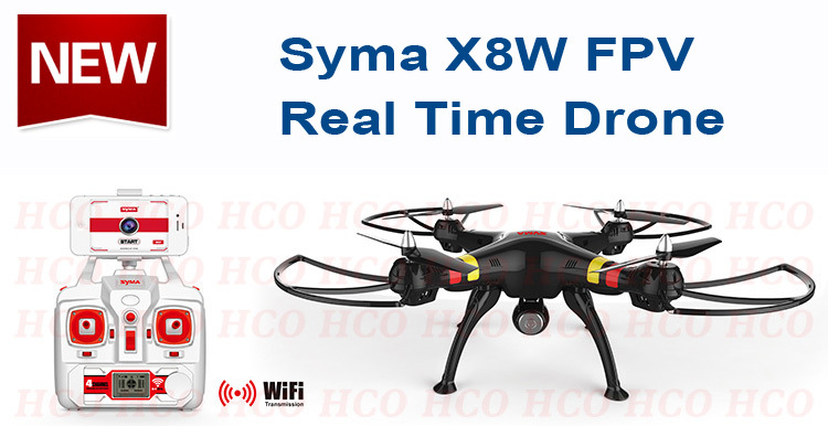 SYMA X8W FPV RC Drone Quadcopter with WiFi Real Time Transmission Camera and Headless Big Quad copter Helicopter vs DJI Phantom