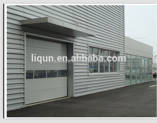 hot sale steel panel roll up garage doors with aluminum window