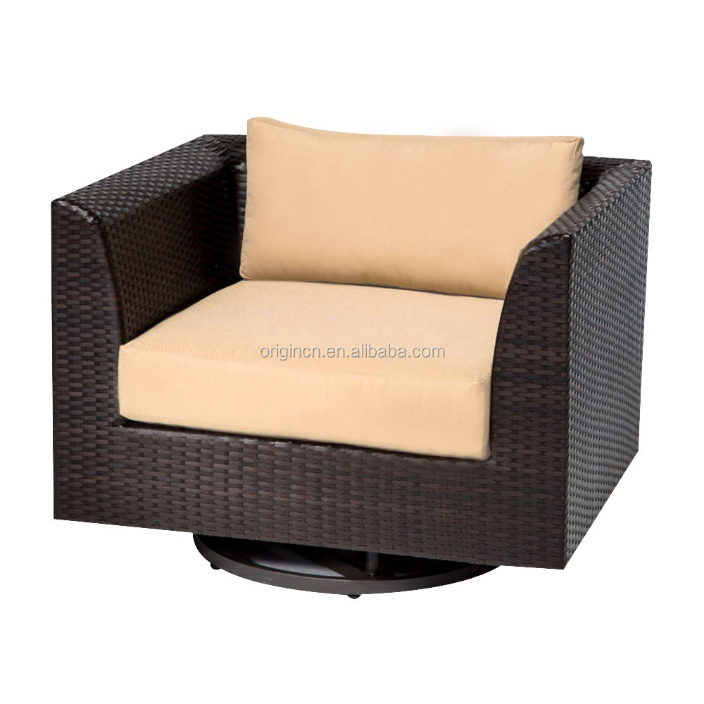 Villa hotel outdoor friends gathering sofa with ottoman footrest ...