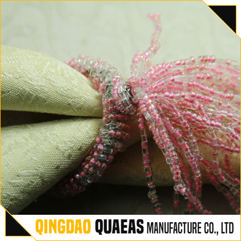 wholesale napkin rings with pink color
