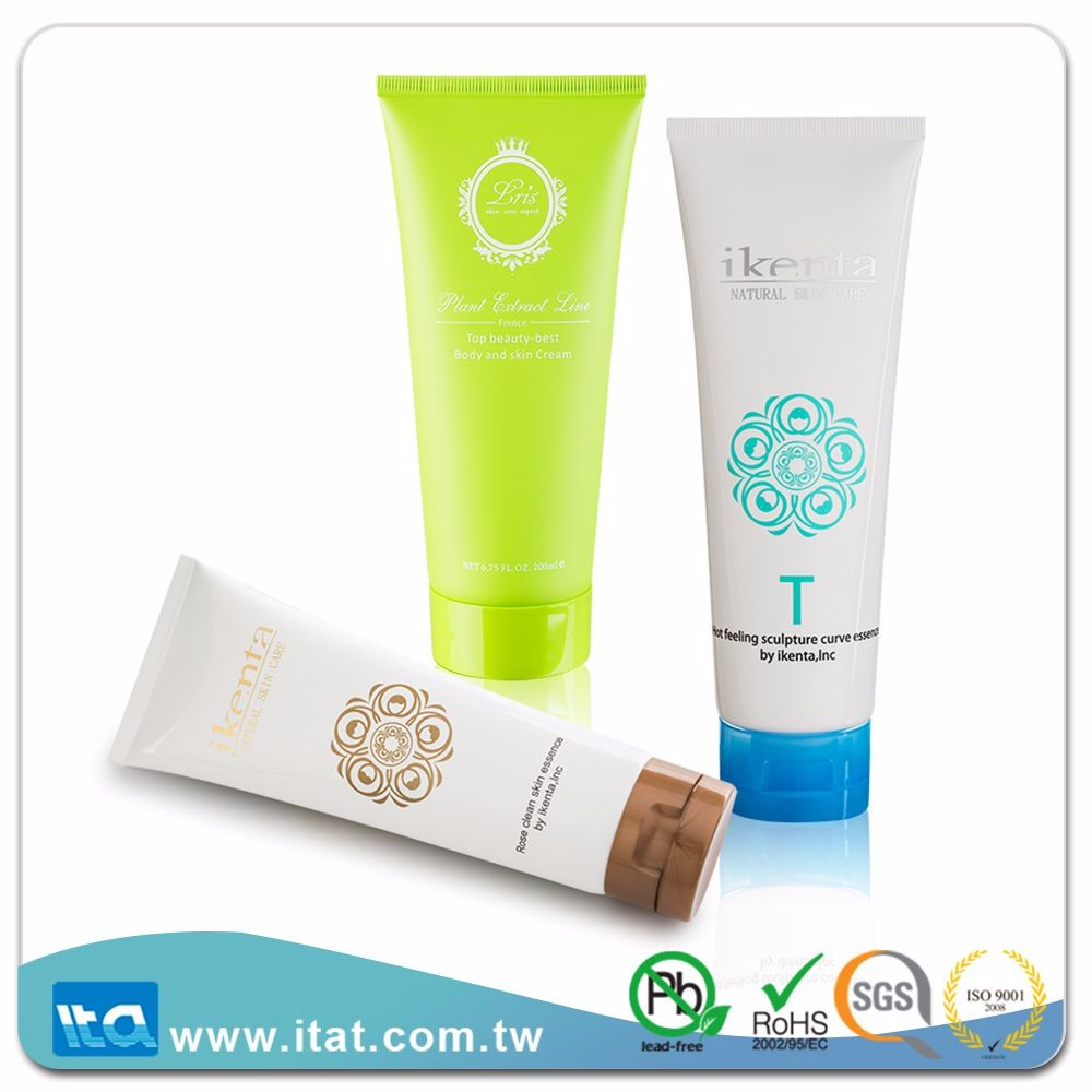 pharmaceutical flip top cap paste bamboo cosmetic packaging