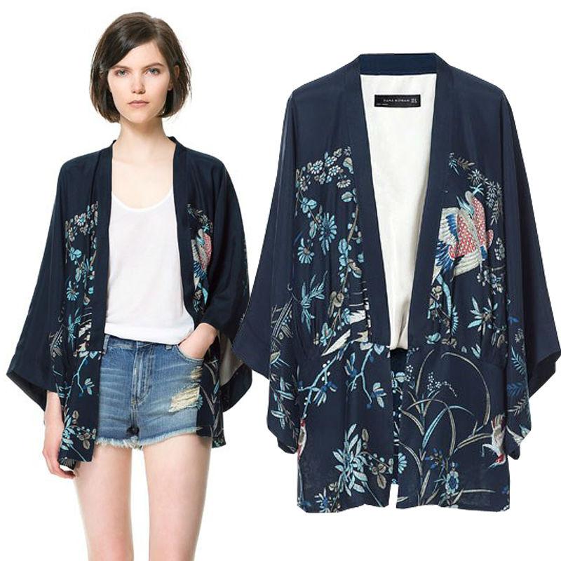 asimétricas las mujeres y 2014 estampado estilo murciélago caliente manga venta primavera de de otoño flores q6wwf4UxZn