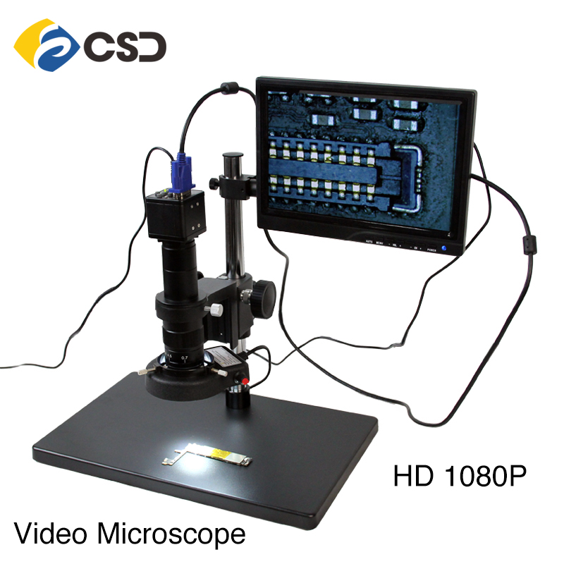HD electronic display video microscope for mobile phone repair HD 1080P HDMI