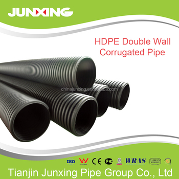 Plastic Culvert Pipe Prices Sn8 Hdpe Twin Wall Black 600mm