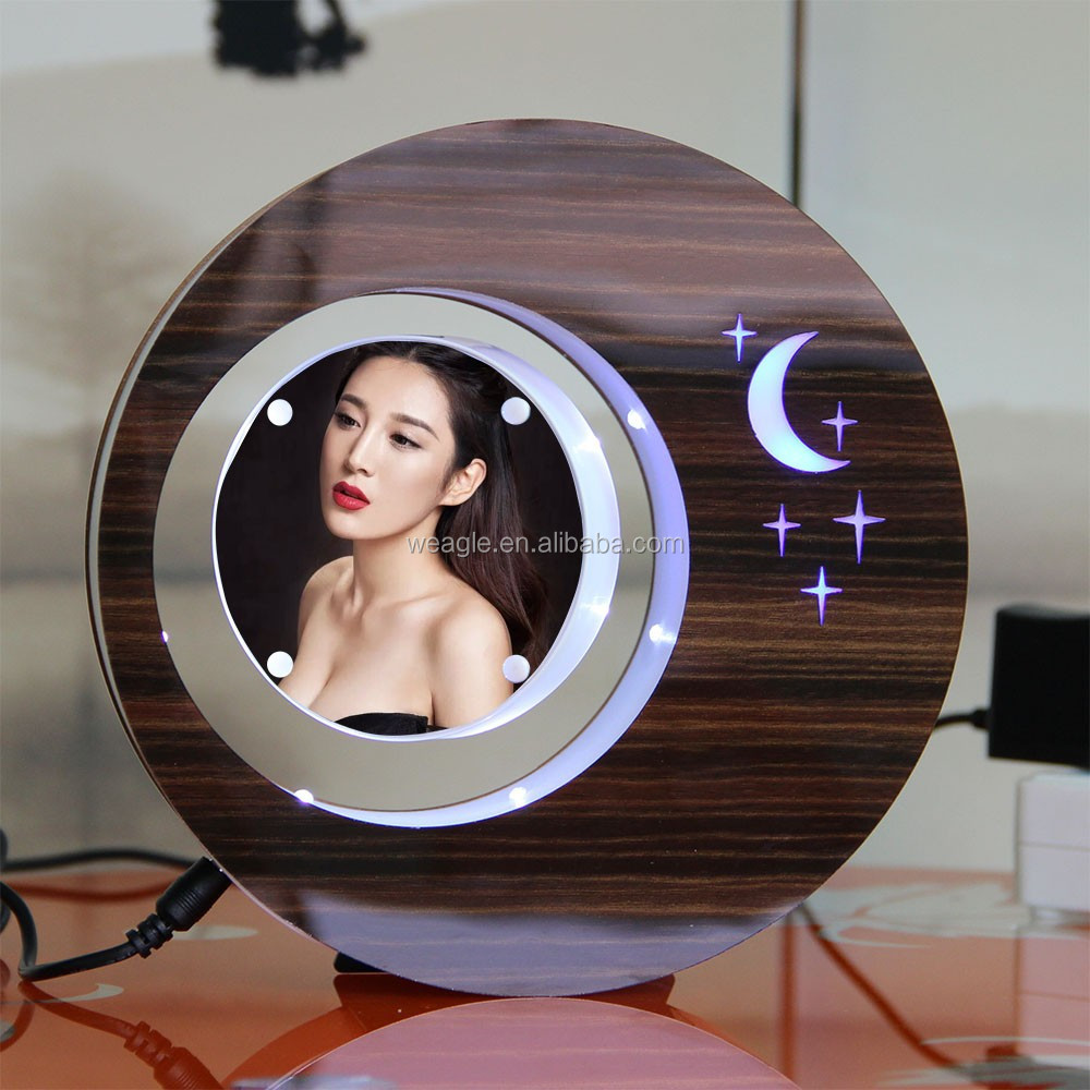 LED suspending in the air magnetic levitation photo frame significant unique mothers day <strong>gifts</strong>