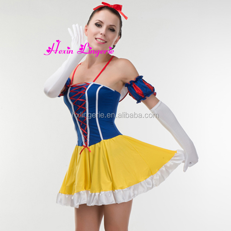 China Supplier Adult Strap The Princess Customes Dress Snow White Dress