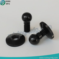 precision machining anodized aluminum ball screw from 6061 t6 parts