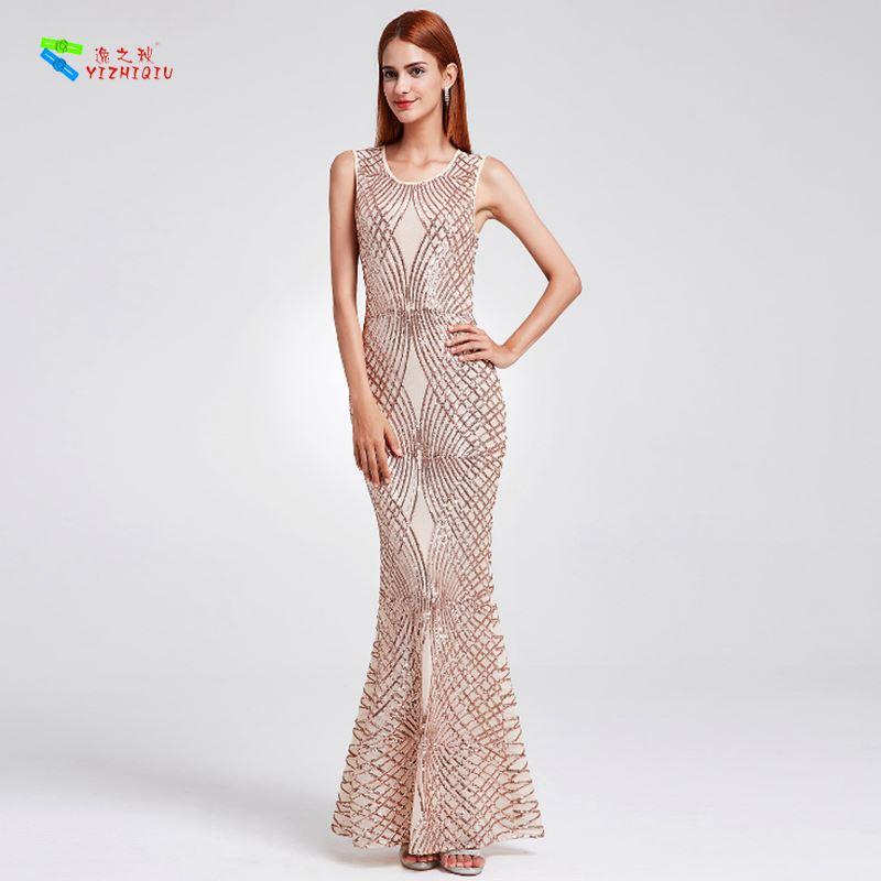 YIZHIQIU bodycon long prom dress