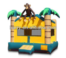 Alibaba Inflatable Barry Jungel Monkey Bouncy Castles Inflatables,Inflatable Bouncer Castle