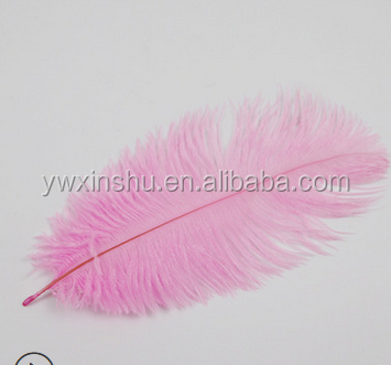 Multi Color Natural Ostrich Feather Fringes Trim For Wedding Party Decoration