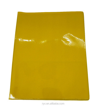 PVC report covers with 2 clear pockets customized plastic presentation file folder