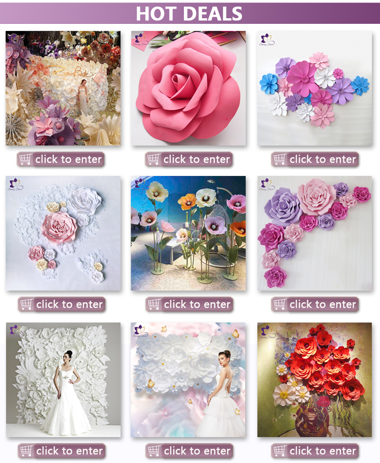 Wholesale factory cheap free shipping flower wall artificial paper flowers