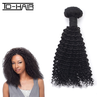 TD HAIR Virgin remy oprah curl hair extensions, mongolian kinky curly hair, top quality human hair weaving
