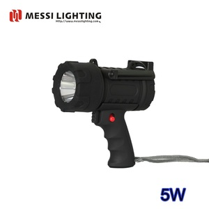 5W Rechargeable Waterproof LED Flashlight, LED Torch Light, LED Spotlight With 300lm