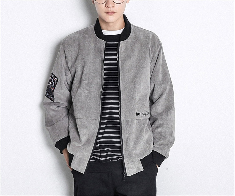 0a16ef663d Get Quotations · Bomber Jackets Men Streetwear Spring Basic Baseball Pilot  Jacket Mens Hip Hop Streetwear Plus Size Mens