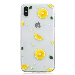 Tpu soft transparent lemon case mobile cover phone cases for iphone XS max 6.5