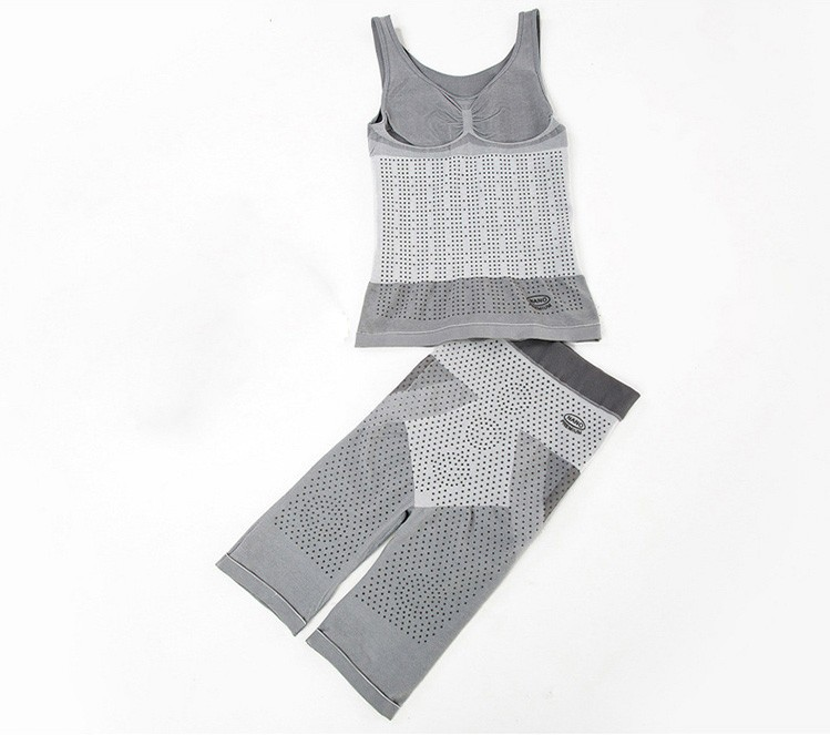 Bamboo Charcoal Far Infrared Magnetic Therapy Body Shaper Women Waist Corset Slimming Tank Top