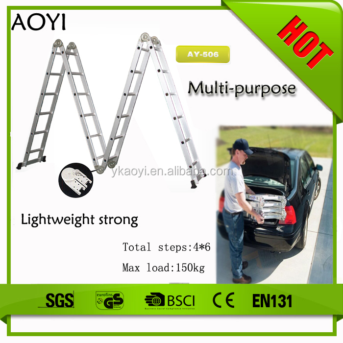 AY 2015 alibaba china supplier cheap price 6.8m bridge aluminum ladder