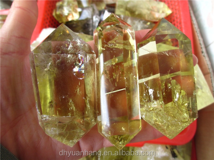 Good Polished Double Terminated Citrine Crystal Points,Wholesale ...