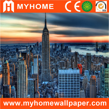 New York City Scenery 3d Wall Mural Modern Wallpaper For Living Room Buy Modern Wallpaper For Living Room 3d Wall Mural Wallpaper Scenery Wallpaper