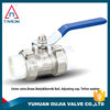 forged brass gas ball valve dn15 3/4 inch alum long handel PPR with filter union PTFE seated forged brass body with high pressur