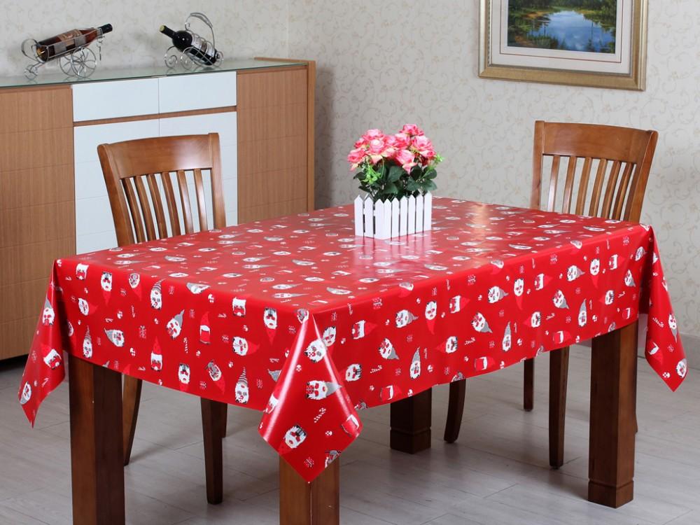 2016 Merry Christmas Decoration Pvc Table Cloth