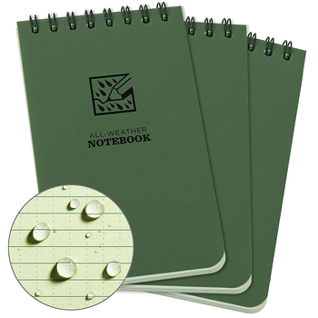 Custom Waterproof Top Spiral Notebook Green Cover Blank Pages LOGO Printing Notebook
