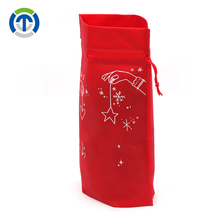 Tongxin New Product 2018 Custom Printed Non Woven Small Christmas Drawstring Gift Bags