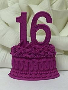 Buy Purple Sweet 16 Sixteen Number Favor Centerpiece Cake