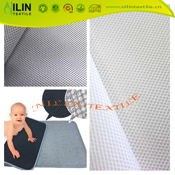 100% polyester 3D spacer air mesh backpacks fabric