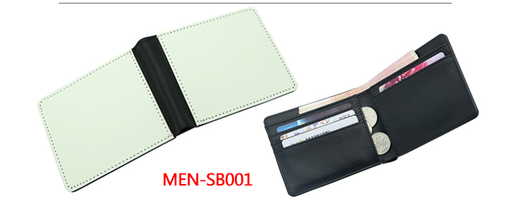China Sublimation Blanks, Blank Wallet Sublimation, Sublimation Print Men's Wallet