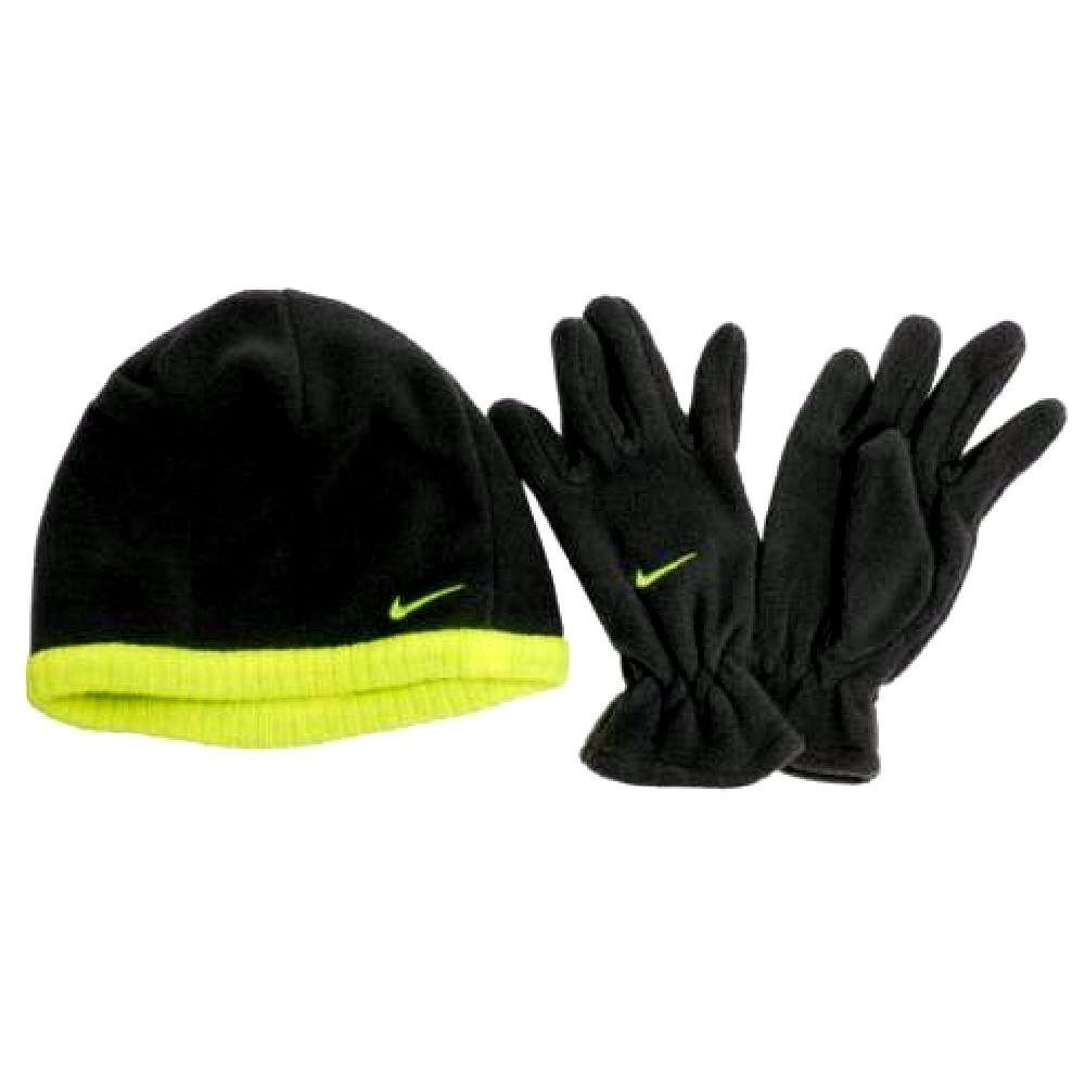 9454304aab3 Buy Nike Youth Boys Winter Fleece Hat Beanie Cap Gloves Set Sz 8 20  Black Neon in Cheap Price on m.alibaba.com