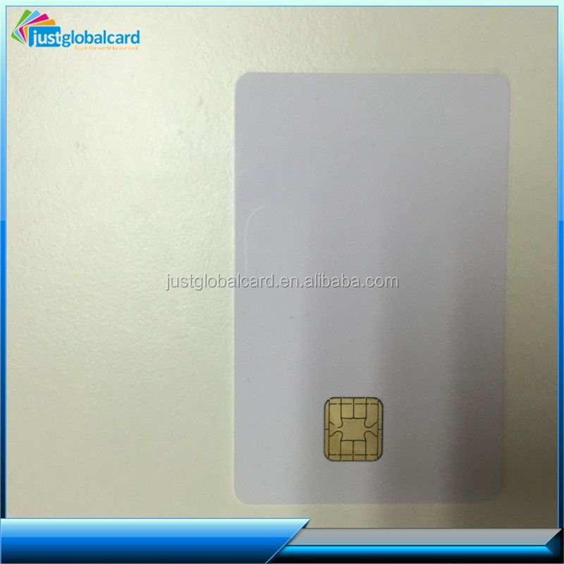 plastic PVC white contact j2a040 card with 3 track magnetic stripe