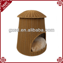 PE rattan Handmade durable waterproof dog cage pet house