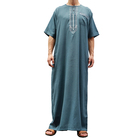 Middle East Clothing Muslim Abaya White Thobe Jubah Dubai Arabian Baju kaftan Men