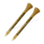 Custom logo printed bamboo golf tee pegs