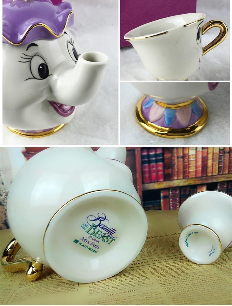 Hot Sale Cartoon Beauty And The Beast Teapot Mug Mrs Potts
