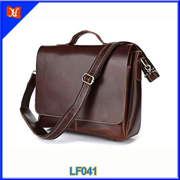 Wholesale custom design italian leather shoulder bag men