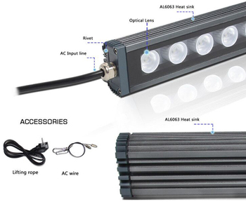 4ft Full Spectrum Plant LED Grow Light Bar Indoor Garden Waterproof 108w Hydroponic Greenhouse LED Strip
